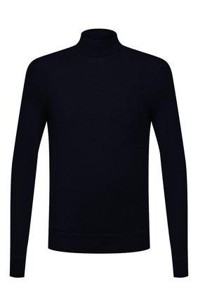 Мужской водолазка из кашемира и шелка TOM FORD темно-синего цвета, арт. BYH99/TFK122 | Фото 1 (Материал внешний: Шелк, Шерсть, Кашемир; Мужское Кросс-КТ: Водолазка-одежда; Принт: Без принта; Стили: Классический; Рукава: Длинные; Длина (для топов): Стандартные)