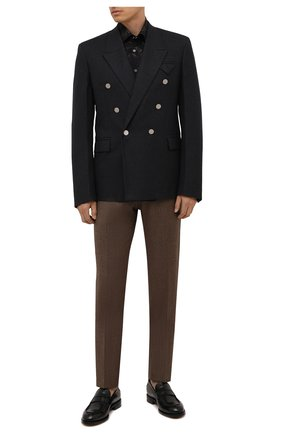 Мужские брюки из шерсти и кашемира KITON коричневого цвета, арт. UFPP79K0121A | Фото 2 (Случай: Повседневный; Материал подклада: Купро; Материал внешний: Шерсть; Стили: Кэжуэл; Длина (брюки, джинсы): Стандартные)