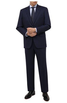 Мужской шерстяной костюм BRIONI темно-синего цвета, арт. RAH05P/P8A4L/PARLAMENT0 | Фото 1