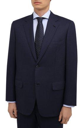 Мужской шерстяной костюм BRIONI темно-синего цвета, арт. RAH05P/P8A4L/PARLAMENT0 | Фото 2