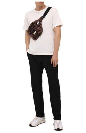 Мужская текстильная поясная сумка sicily DOLCE & GABBANA леопардового цвета, арт. BM2009/A0824 | Фото 2