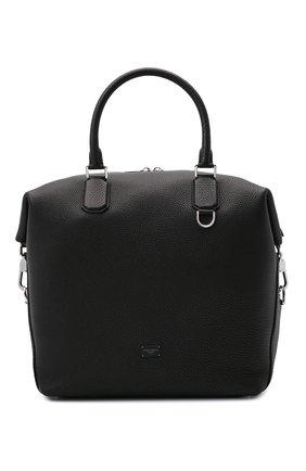 Мужская кожаная сумка-тоут palermo DOLCE & GABBANA черного цвета, арт. BM1995/AZ319 | Фото 1
