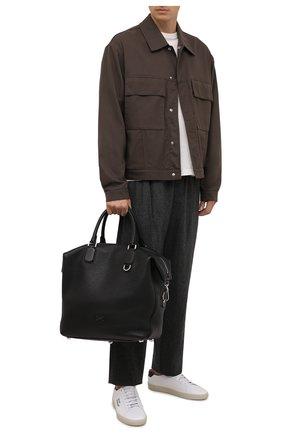 Мужская кожаная сумка-тоут palermo DOLCE & GABBANA черного цвета, арт. BM1995/AZ319 | Фото 2