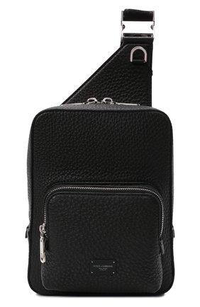 Мужской кожаный рюкзак palermo DOLCE & GABBANA черного цвета, арт. BM1980/AZ319 | Фото 1