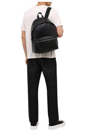 Мужской кожаный рюкзак city SAINT LAURENT черного цвета, арт. 534967/0AY3F | Фото 2