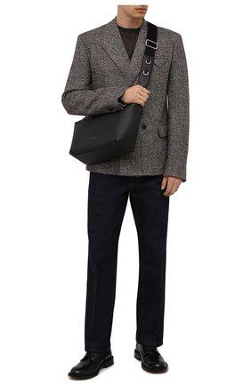 Мужская кожаная сумка palermo DOLCE & GABBANA черного цвета, арт. BM2015/AZ319 | Фото 2