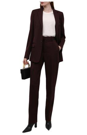 Женские кожаные ботильоны VERSACE черного цвета, арт. 1000837/1A00673 | Фото 2 (Каблук высота: Высокий; Материал внутренний: Натуральная кожа; Каблук тип: Устойчивый; Подошва: Плоская)