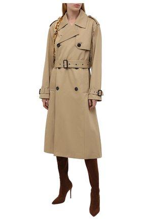 Женские замшевые ботфорты julia CASADEI коричневого цвета, арт. 1T853E1001T00052608   Фото 2