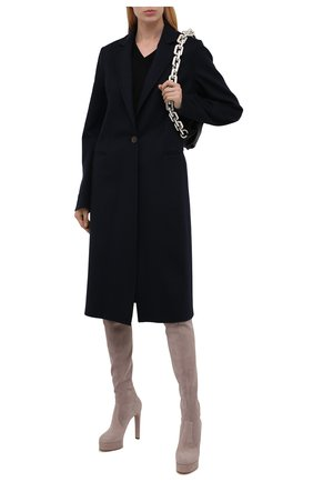 Женские замшевые ботфорты CASADEI бежевого цвета, арт. 1T982T1201T00053114   Фото 2
