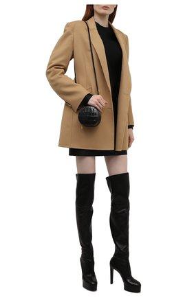 Женские кожаные ботфорты CASADEI черного цвета, арт. 1T982T1201T00539000   Фото 2