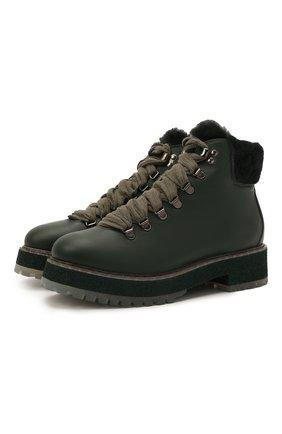 Женские кожаные ботинки AGL зеленого цвета, арт. D716548MMKE7461273   Фото 1