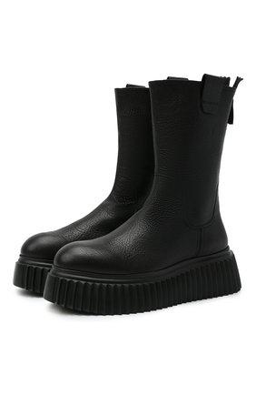 Женские кожаные ботинки AGL черного цвета, арт. D751503PGKI0121013   Фото 1
