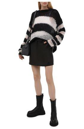 Женские кожаные ботинки AGL черного цвета, арт. D751503PGKI0121013   Фото 2