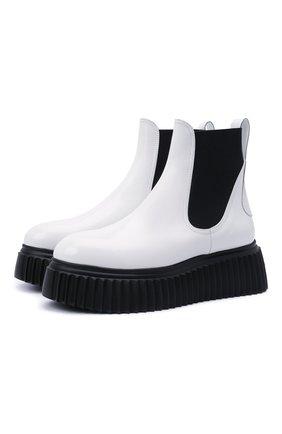 Женские кожаные ботинки AGL черно-белого цвета, арт. D751526PGKI0221176   Фото 1