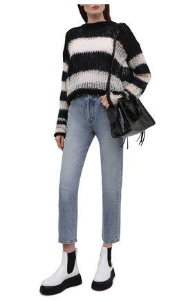 Женские кожаные ботинки AGL черно-белого цвета, арт. D751526PGKI0221176   Фото 2