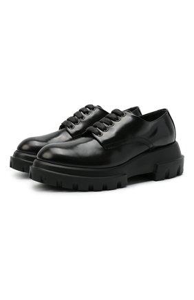 Женская кожаные дерби AGL черного цвета, арт. D756002PGKD0111013   Фото 1