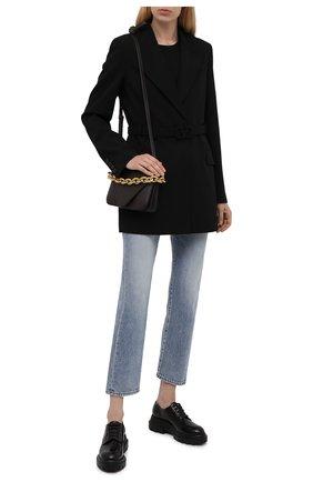 Женская кожаные дерби AGL черного цвета, арт. D756002PGKD0111013   Фото 2