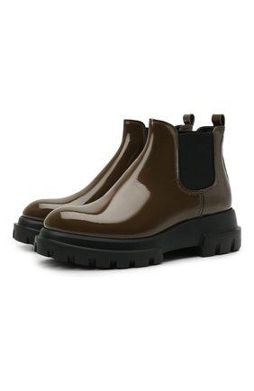 Женские кожаные ботинки AGL зеленого цвета, арт. D756502PGKA001E773   Фото 1