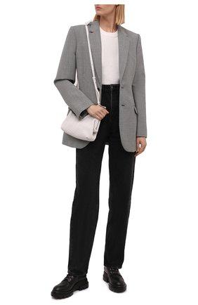 Женские кожаные ботинки AGL черного цвета, арт. D756549PGKA0761013 | Фото 2 (Подошва: Платформа; Каблук высота: Низкий; Материал внутренний: Натуральная кожа; Женское Кросс-КТ: Хайкеры-ботинки)