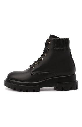 Женские кожаные ботинки AGL черного цвета, арт. D756549PGKA0761013 | Фото 3 (Подошва: Платформа; Каблук высота: Низкий; Материал внутренний: Натуральная кожа; Женское Кросс-КТ: Хайкеры-ботинки)