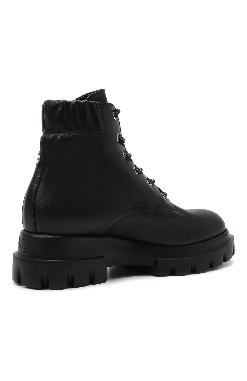 Женские кожаные ботинки AGL черного цвета, арт. D756549PGKA0761013 | Фото 4 (Подошва: Платформа; Каблук высота: Низкий; Материал внутренний: Натуральная кожа; Женское Кросс-КТ: Хайкеры-ботинки)
