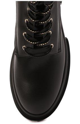 Женские кожаные ботинки AGL черного цвета, арт. D756549PGKA0761013 | Фото 5 (Подошва: Платформа; Каблук высота: Низкий; Материал внутренний: Натуральная кожа; Женское Кросс-КТ: Хайкеры-ботинки)