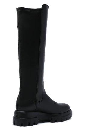 Женские кожаные сапоги AGL черного цвета, арт. D756564PGKA1121049 | Фото 4 (Материал внешний: Текстиль; Подошва: Платформа; Высота голенища: Средние; Каблук высота: Низкий; Материал внутренний: Натуральная кожа; Каблук тип: Устойчивый)