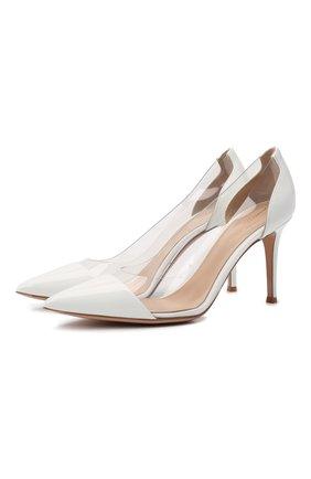 Женские комбинированные туфли plexi 85 GIANVITO ROSSI белого цвета, арт. G20938.85RIC.VGLBITR | Фото 1
