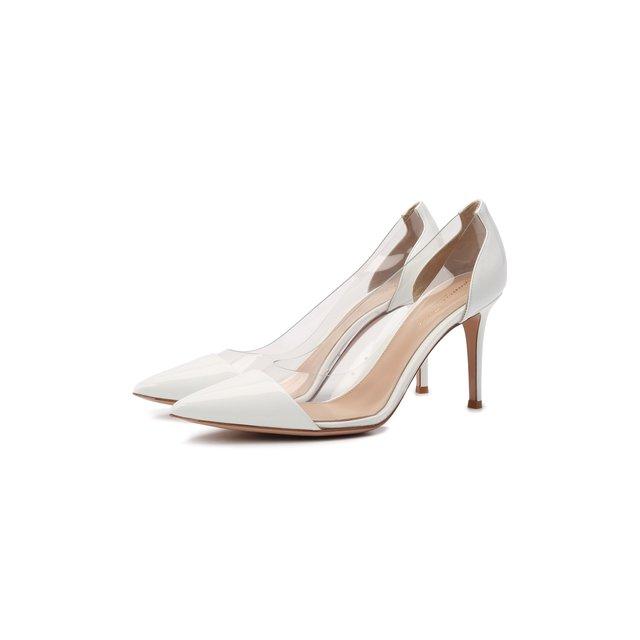 Комбинированные туфли Plexi 85 Gianvito Rossi