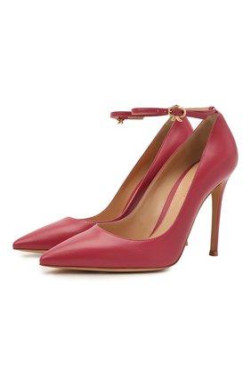 Женские кожаные туфли GIANVITO ROSSI розового цвета, арт. G22022.15RIC.NAPHIBI | Фото 1