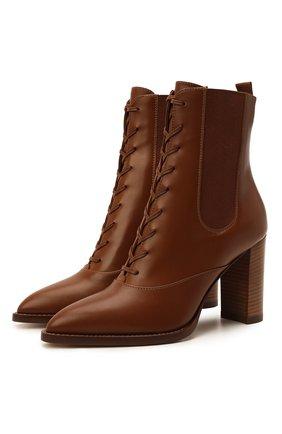 Женские кожаные ботильоны dresda GIANVITO ROSSI коричневого цвета, арт. G73478.85CU0.VITCU0I | Фото 1