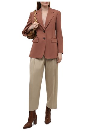 Женские кожаные ботильоны dresda GIANVITO ROSSI коричневого цвета, арт. G73478.85CU0.VITCU0I | Фото 2