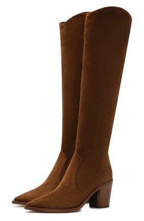 Женские замшевые сапоги GIANVITO ROSSI светло-коричневого цвета, арт. G80317.70CU0.C45TEXA | Фото 1