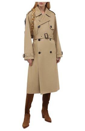 Женские замшевые сапоги GIANVITO ROSSI светло-коричневого цвета, арт. G80317.70CU0.C45TEXA | Фото 2