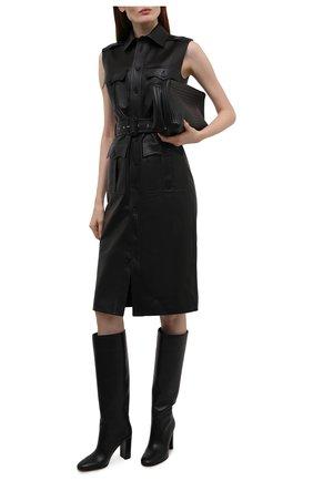 Женские кожаные сапоги glen GIANVITO ROSSI черного цвета, арт. G80627.85RIC.VGINER0 | Фото 2