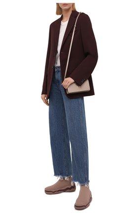 Женские текстильные кроссовки REDVALENTINO бежевого цвета, арт. WQ2S0F78/CEI | Фото 2 (Материал внешний: Текстиль; Материал внутренний: Текстиль; Подошва: Платформа; Кросс-КТ: хайтопы)