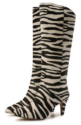 Женские кожаные сапоги laylis ISABEL MARANT черно-белого цвета, арт. LAYLIS/BT0209-21A003S | Фото 1