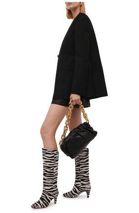 Женские кожаные сапоги laylis ISABEL MARANT черно-белого цвета, арт. LAYLIS/BT0209-21A003S | Фото 2