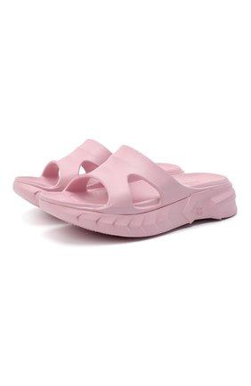 Женские резиновые шлепанцы GIVENCHY розового цвета, арт. BE305AE11B | Фото 1 (Материал внешний: Резина; Подошва: Платформа)