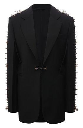 Женский шерстяной жакет GIVENCHY черного цвета, арт. BW30CVG0S5 | Фото 1