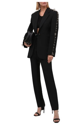 Женский шерстяной жакет GIVENCHY черного цвета, арт. BW30CVG0S5 | Фото 2