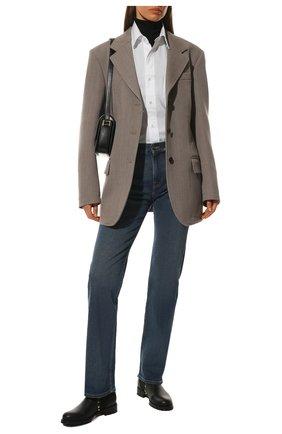 Женские кожаные ботинки rockstud VALENTINO черного цвета, арт. WW2S0D47/VSL | Фото 2 (Подошва: Плоская; Материал внутренний: Натуральная кожа; Каблук высота: Низкий; Женское Кросс-КТ: Челси-ботинки)