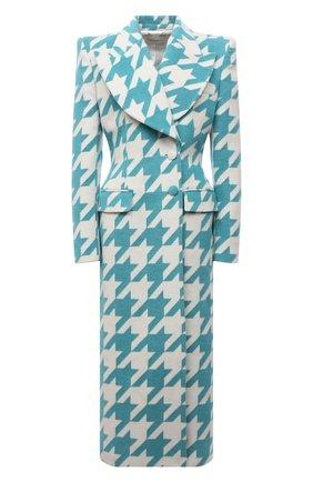 Женское пальто GIUSEPPE DI MORABITO бирюзового цвета, арт. PF21026C0-107 | Фото 1