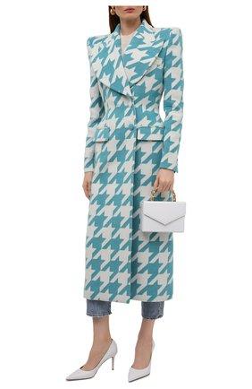 Женское пальто GIUSEPPE DI MORABITO бирюзового цвета, арт. PF21026C0-107 | Фото 2