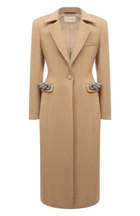 Женское пальто GIUSEPPE DI MORABITO бежевого цвета, арт. PF21025C0-107 | Фото 1