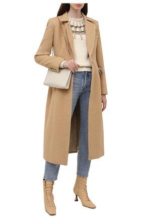 Женское пальто GIUSEPPE DI MORABITO бежевого цвета, арт. PF21025C0-107 | Фото 2