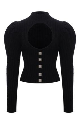 Женский свитер GIUSEPPE DI MORABITO черного цвета, арт. PF21086KN-144 | Фото 1