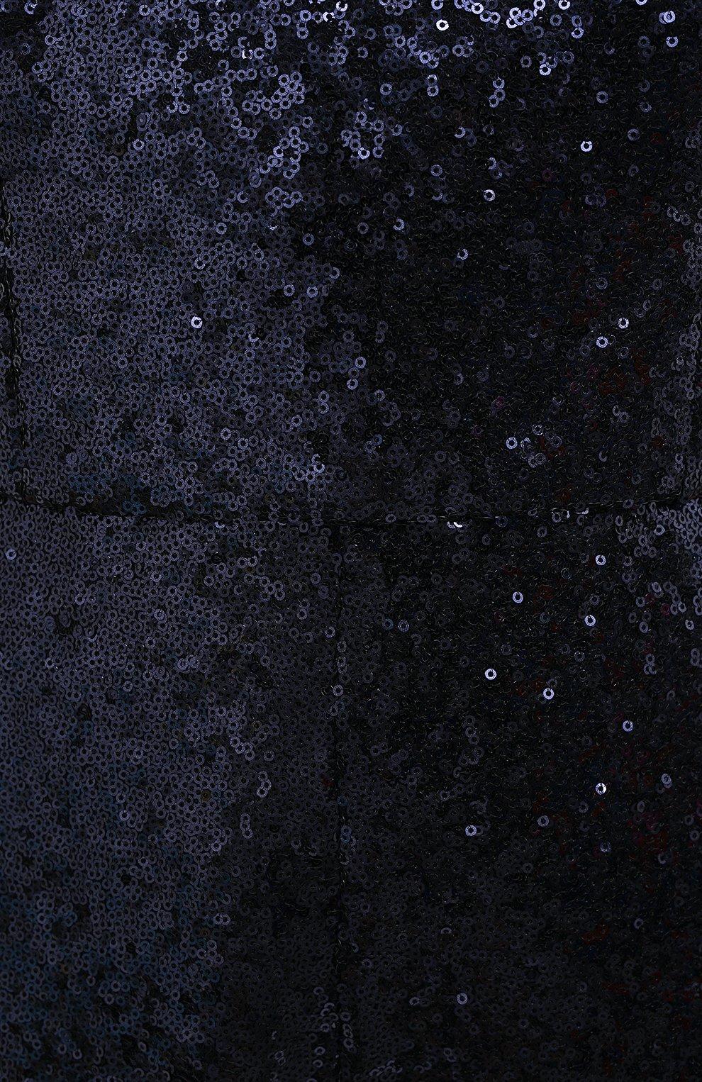 Женский комбинезон с пайетками SALONI синего цвета, арт. 7017-04 | Фото 5 (Случай: Вечерний; Длина (брюки, джинсы): Стандартные; Материал внешний: Синтетический материал; Материал подклада: Синтетический материал; Стили: Романтичный; Женское Кросс-КТ: Комбинезон-одежда)