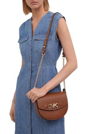 Женская сумка izzy small MICHAEL MICHAEL KORS коричневого цвета, арт. 32T1GZYC0L | Фото 2