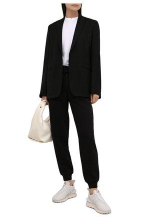 Женские хлопковые джоггеры MICHAEL MICHAEL KORS черного цвета, арт. MS1301023G | Фото 2